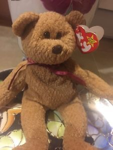RARE!! Beanie  Baby Curly Retired Made with PVC Several tag errors 2 Nose Errors