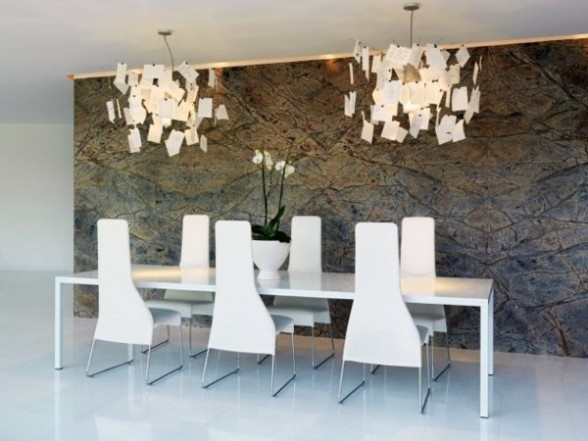 Duilio Damilano   Simple White Dining Table