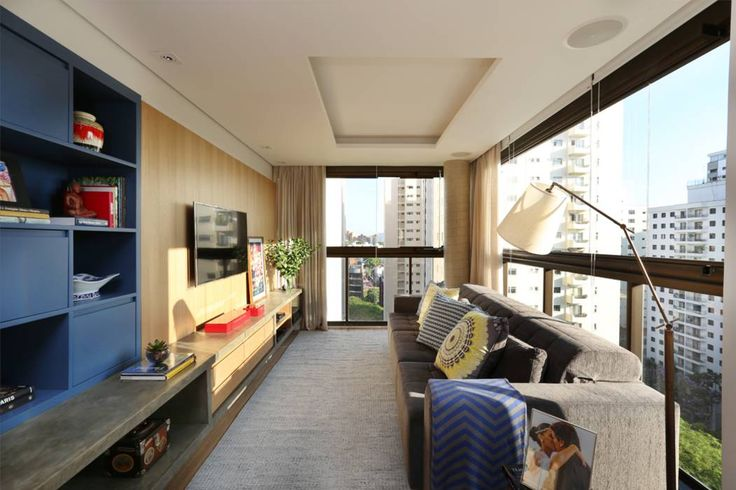 Salas multimedia de estilo moderno por MANDRIL ARQUITETURA E INTERIORES