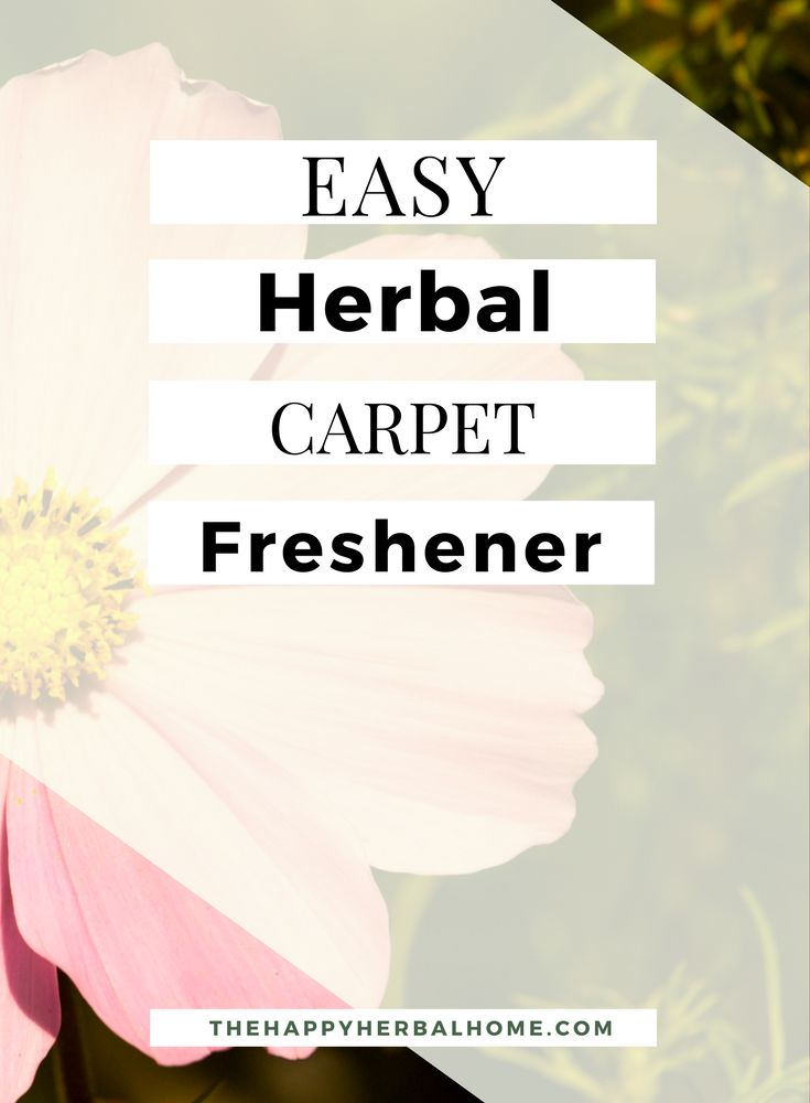 Sometimes you want your house to smell good. This all natural herbal carpet freshener will do just that. Made with dried herbs and essential oils, it wont add any nasty toxins to your house.