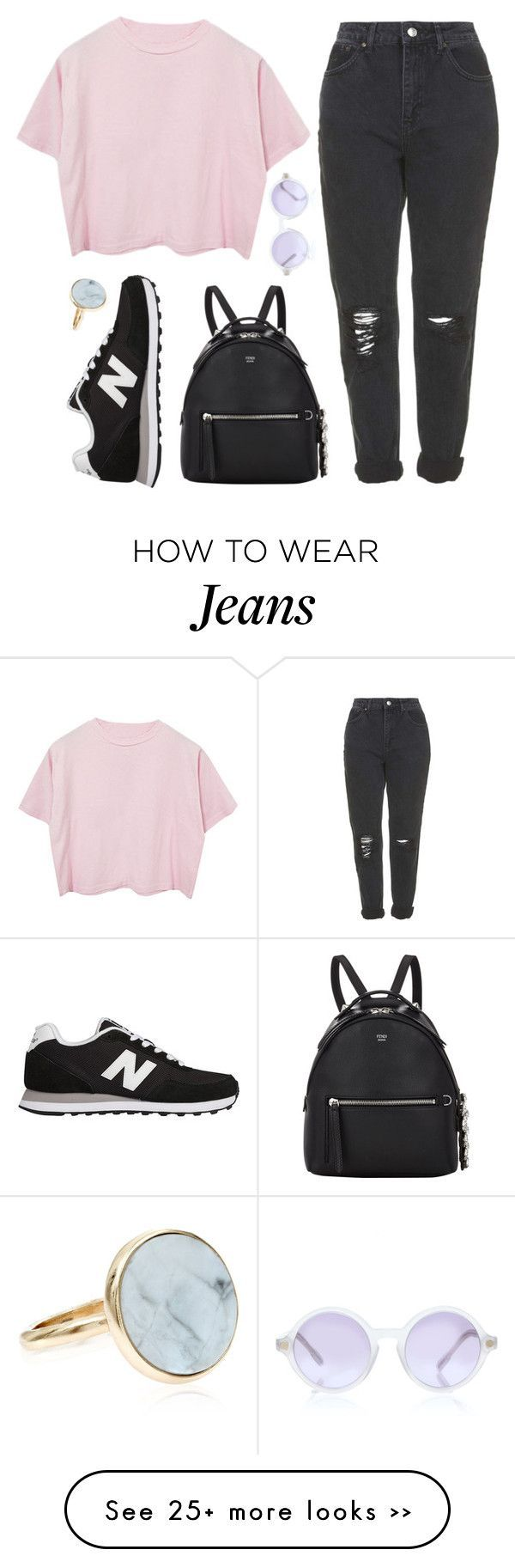 Love child by sulk-y on Polyvore featuring Topshop, New Balance, Sunettes, Fendi…