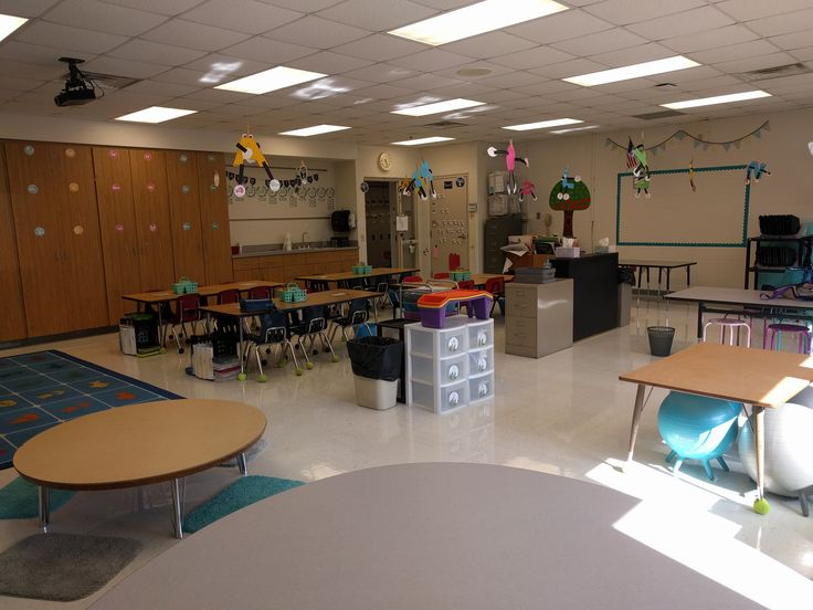 Great classroom layout with flexible seating!
