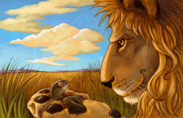 Aesops Fables with a Twist: The Lion and the Mouse   Yoga In My School