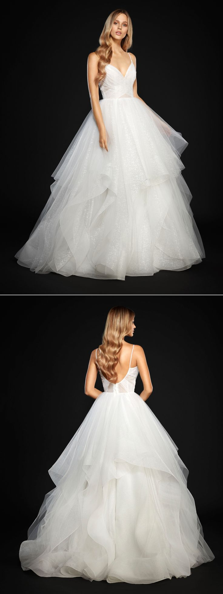 """Hayley Paige """"Chandon"""" ball gown in ivory / white // Wedding dress inspiration"""