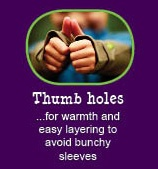 12 reasons why Peekaboo Beans is different from other kids clothing brands.  REASON #10 - THUMBHOLES!