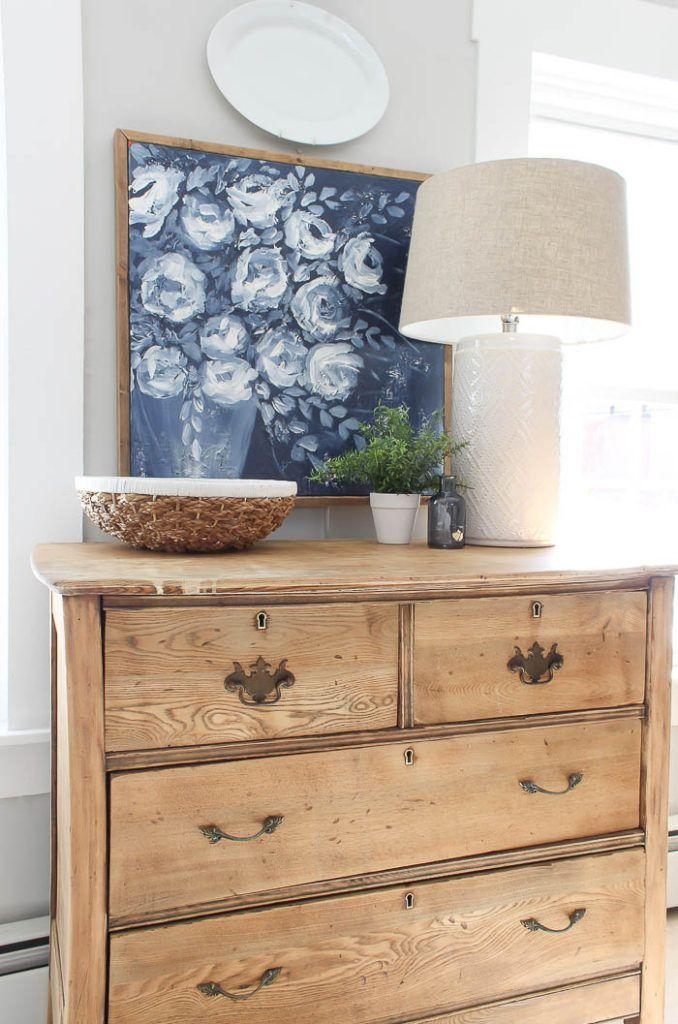 DIY Antique Dresser | Gorgeous farmhouse antique d…