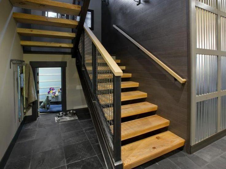 balustrade d'escalier de design industriel