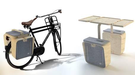 Bisiklet tutkunları, doğayla kucaklaşırken artık piknik sepetlerini de yanlarında kolaylıkla götürebilecek.