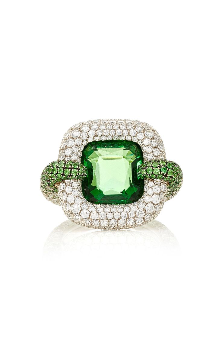 peridots featuring ring yellow tsavorite with gold ct garnet this pin accented rings exquisite a