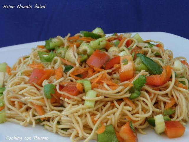 Ensalada fideos asiaticos/Asian Noodle Salad - CookingconpausanCookingconpausan
