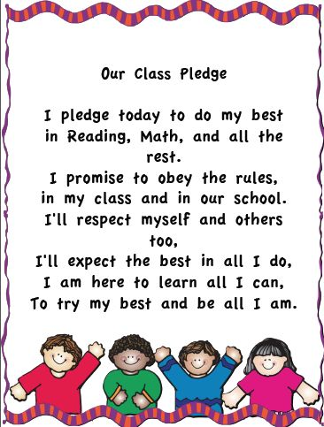 make a large chart of this and use it each day after pledge