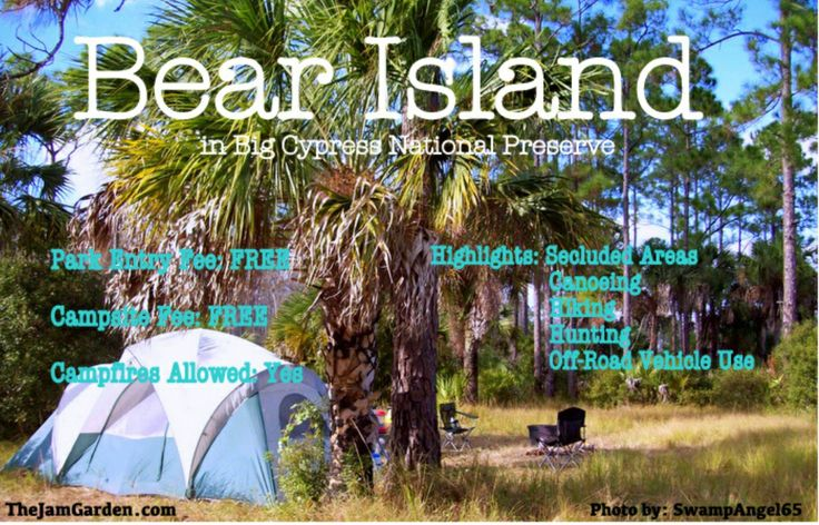 South Florida Camping Bear Island Camping Pinterest