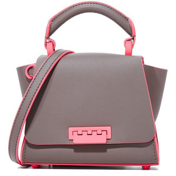 ZAC Zac Posen Eartha Iconic Soft Mini Top Handle Bag (4.003.765 IDR) ❤ liked on Polyvore featuring bags, handbags, shoulder bags, rain, red leather handbags, genuine leather handbags, red leather purse, leather purses and mini handbags