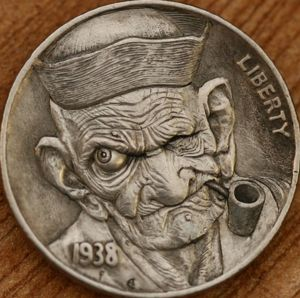 hobo nickel. This piece is absolutely amazing! INCREDIBLE DETAIL. Great job!