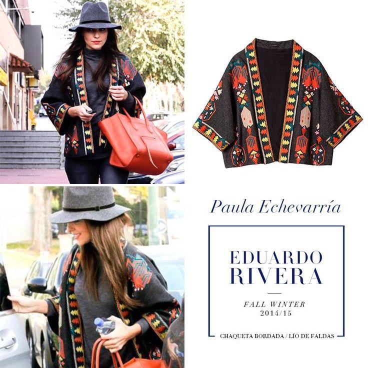 Nos encanta el look de #PaulaEchevarría con chaqueta bordada de #LíoDeFaldas. ¡Y además está disponible en @eduard0rivera! ¿Os gusta? ¡Hazte con ella ahora en nuestra tienda Zielo Shopping Pozuelo!