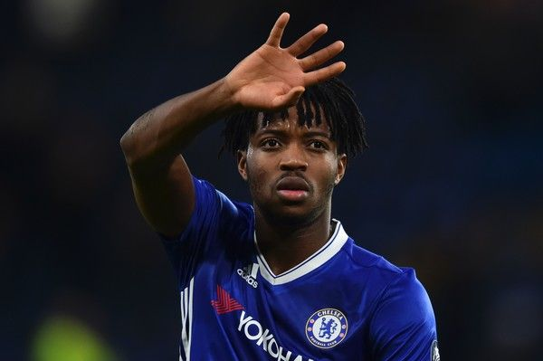Chelsea's Belgian striker Michy Batshuayi waves at the crowd at the end of the English FA Cup fourth round football match between Chelsea and Brentford at Stamford Bridge in London on January 28, 2017. / AFP / Glyn KIRK / RESTRICTED TO EDITORIAL USE. No use with unauthorized audio, video, data, fixture lists, club/league logos or 'live' services. Online in-match use limited to 75 images, no video emulation. No use in betting, games or single club/league/player publications.  /