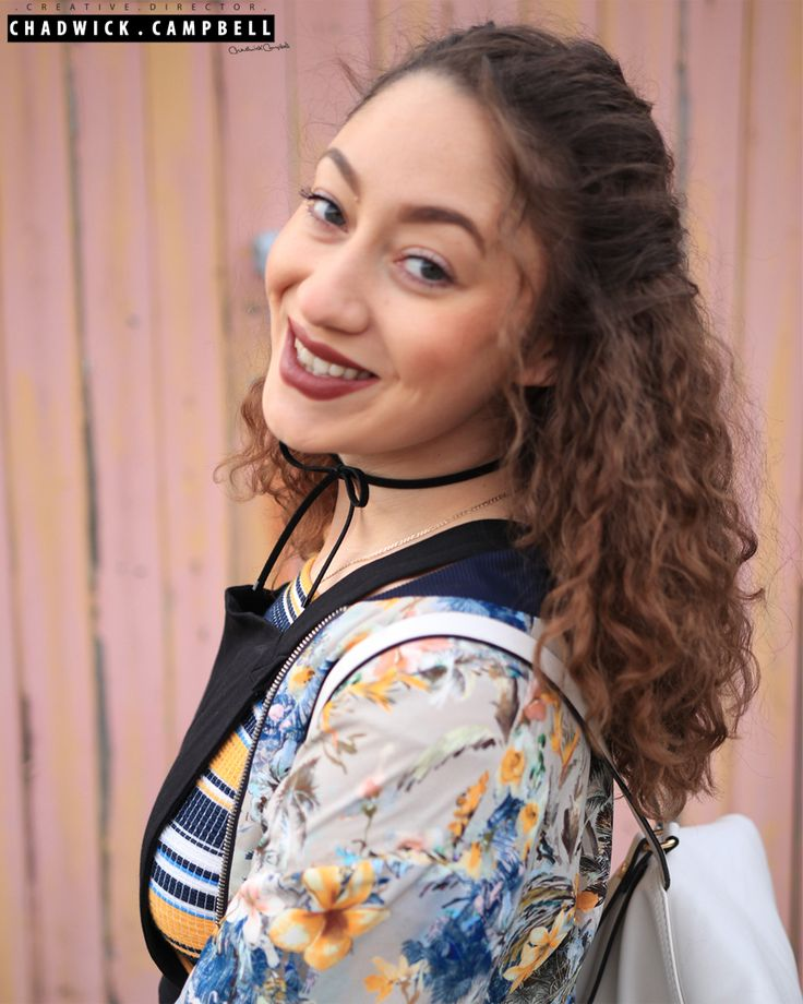 Laura's Lookbook   Printed Bomber Jacket - Zara Bardot  Crop Top - Zara  Dungaree Dress - Asos  Bow Choker - River Island  Backpack - Zara  Beauty, Fashion, Vlogger, Blogger, Youtube, Instagram, Stylist, Designer, buyer, design, Print, Pretty
