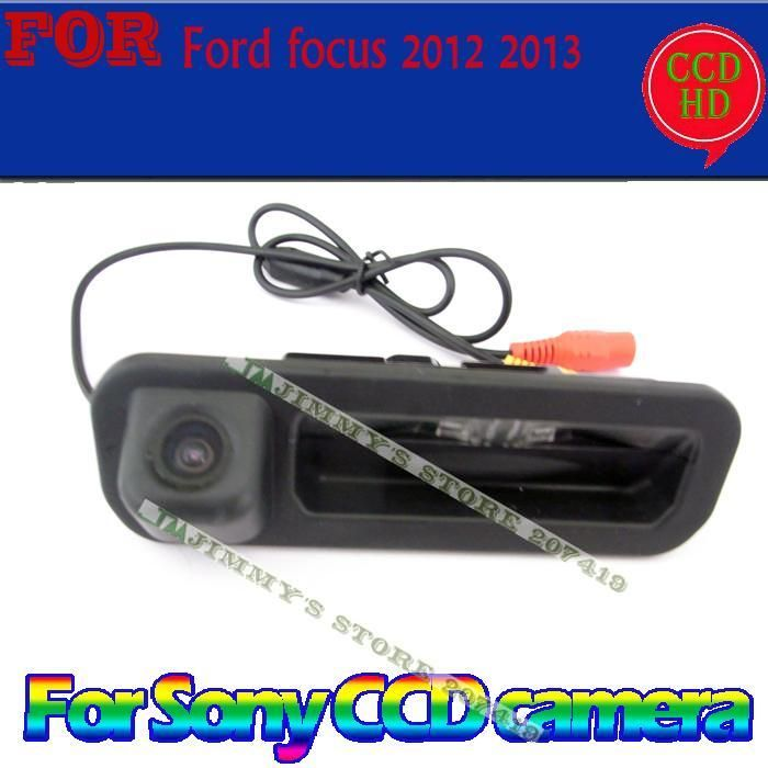 wired wireless for sony ccd car parking rearview camera for Ford focus 2012 2013 hatchback sedan for focus2 focus3 trunk switch