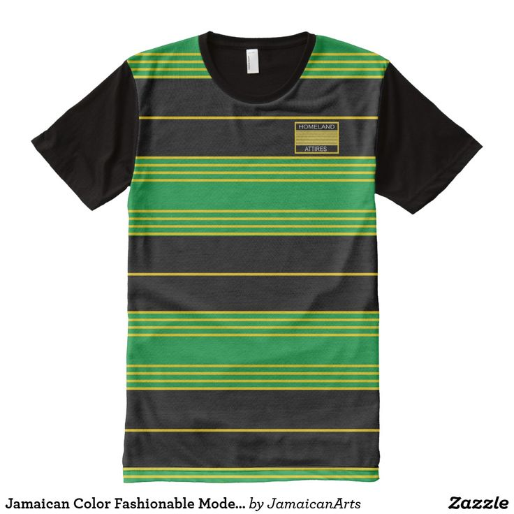 Jamaican Color Fashionable Modern T-Shirt Vacation