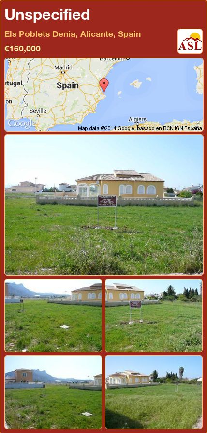 Unspecified in Els Poblets Denia, Alicante, Spain ►€160,000 #PropertyForSaleInSpain