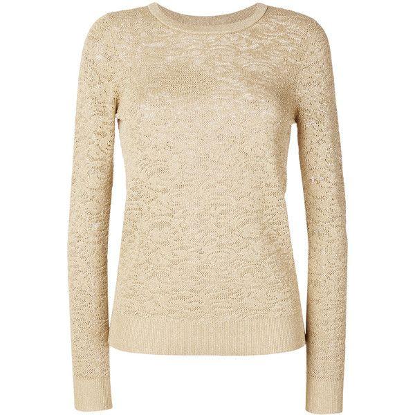 Michael Michael Kors metallic jacquard jumper (1.110 DKK) ❤ liked on Polyvore featuring tops, sweaters, grey, metallic jumper, metallic top, jumpers sweaters, grey jumper and michael michael kors