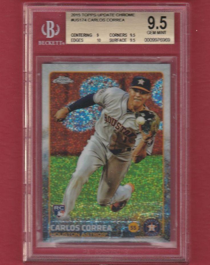 Carlos Correa 2015 Topps Update Chrome US174 Bubble Ref Rookie BGS 9.5 Gem Mint #HoustonAstros