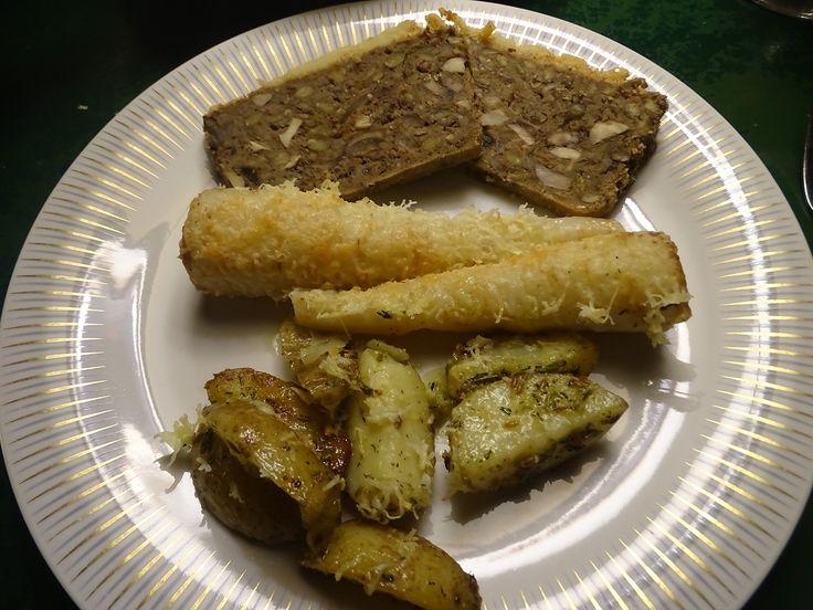 Linsepaté med kartoffler og persillerød
