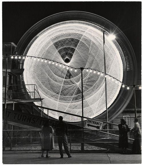 Long exposure shots of Coney Island by Andreas Feininger