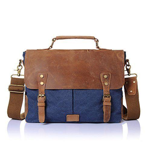 #DoubleMay #Herren #Vintage #Canvas #Leder #Aktentasche #Messenger #Bag #Umhängetasche #ideal für #Studium #Büro #oder #Freizeit #Outdoor #37 #x #11 #x #30 cm #(Blau) DoubleMay Herren Vintage Canvas Leder Aktentasche Messenger Bag Umhängetasche ideal für Studium Büro oder Freizeit Outdoor 37 x 11 x 30 cm (Blau), , Größe (L x B x H): 37 x 10 x 27 cm. Gewicht: 1 kg., Material: Hohe Qualität Canvas   Leder., Verstellbare Schulterriemen für Ihr Wohlbefinden., Kapazität: A4 Magazin, 14