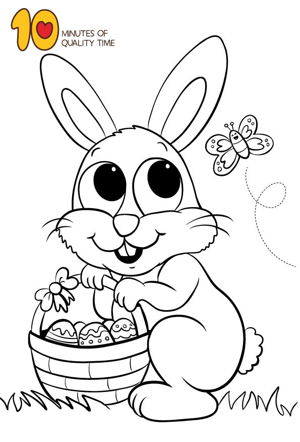 Easter bunny coloring page 10 Minutes of Quality Time