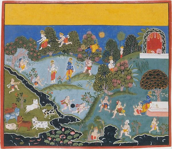 Blindman's Bluff: Page From a Dispersed Bhagavata Purana (Ancient Stories of Lord Vishnu)