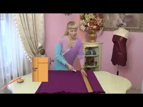 Зимние трикотажные платья своими руками - YouTube