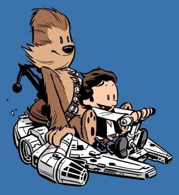 Star Wars / Calvin and Hobbes mashup.