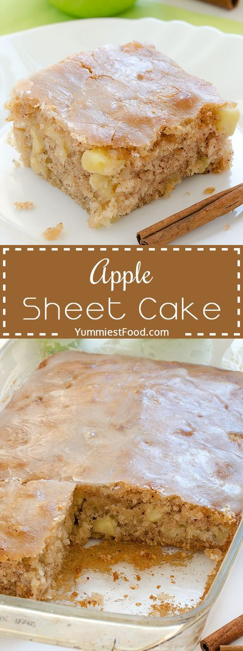 Apple Sheet Cake - super moist and delicious! This Apple Sheet Cake is made with…
