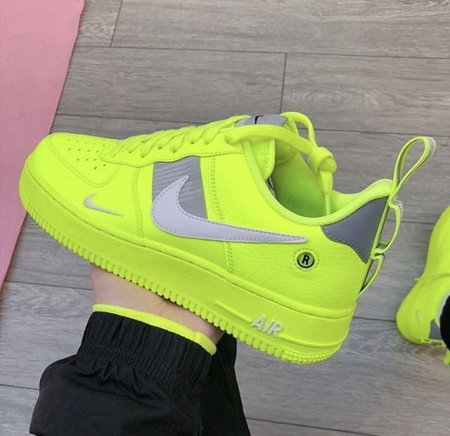 Nike Air Force 1 07 LV8 Utility 'Volt' #nike #airforce1