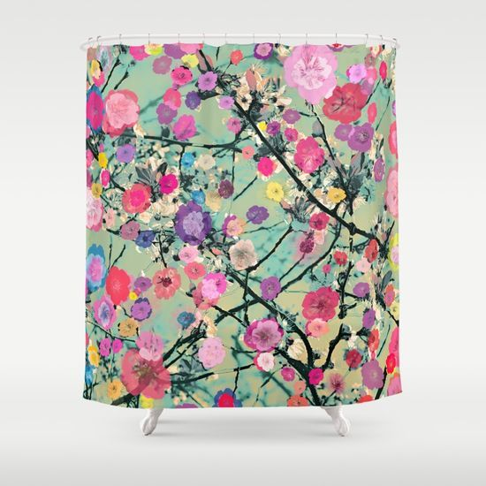 Floral abstract(60) Shower Curtain