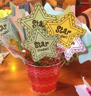 Adorable star student printable