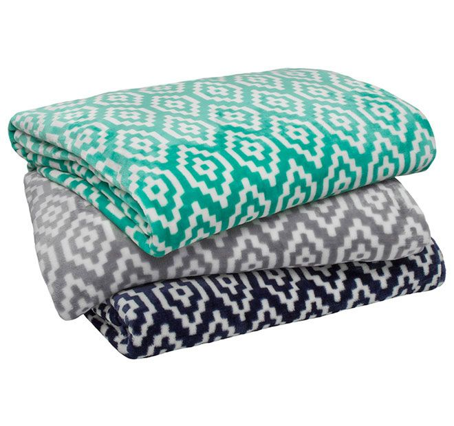 Chelsea BAMBURY - FEATURES: Polyester, 280GSM, Ultraplush flannel fleece, Printed geometric design, Silky smooth and luxurious against the skin - #blankets