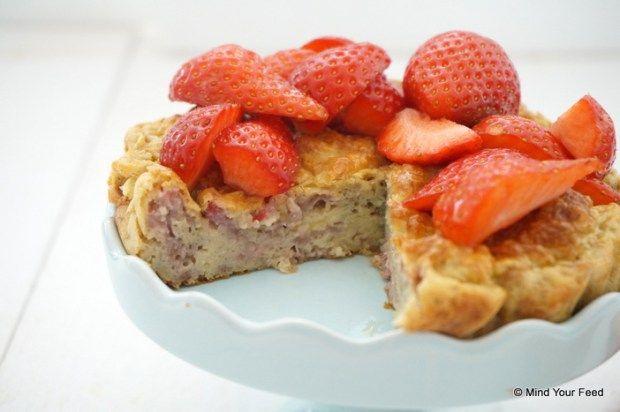 Misschien maar eens proberen zodra Anna weer thuis is van kamp - Lekkere ontbijtjes: Havermout taartje met aardbei