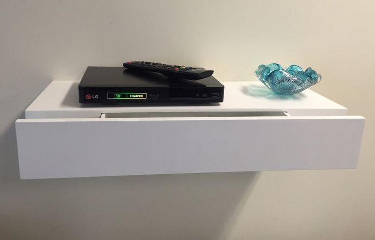 Floating Shelf with Drawer 600x250x100mm