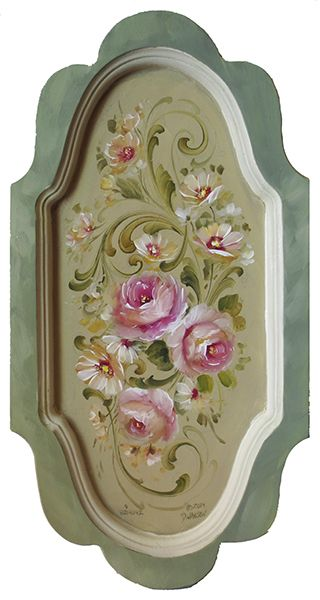 Focusing on the using a small acrylic flat to create Delicate Scrolls. Learn to Paint It Simply!