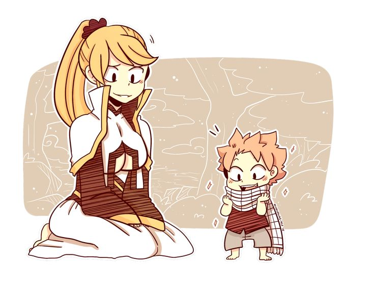 #GiveAcnoACat | Anna and little Natsu | young Natsu | scarf