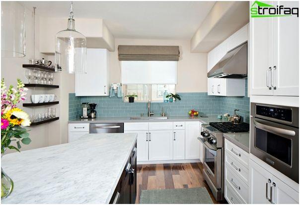 Плочки за кухня - 150 фотоплочки на перона и към пода