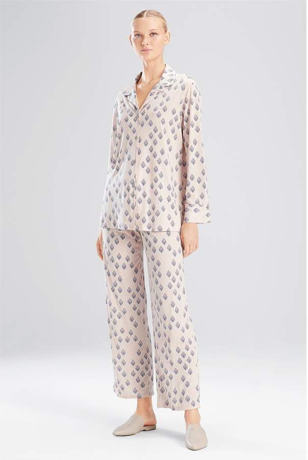 e439f5ec96 Natori Printed Supima Cotton   Micro Modal Pajama Set  Supima Cotton Natori