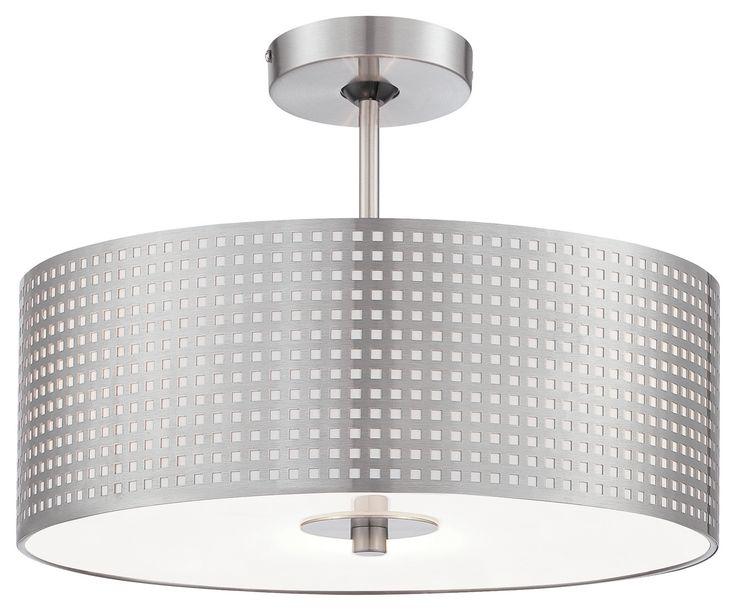 Three light semi flush lighting warehouse 366