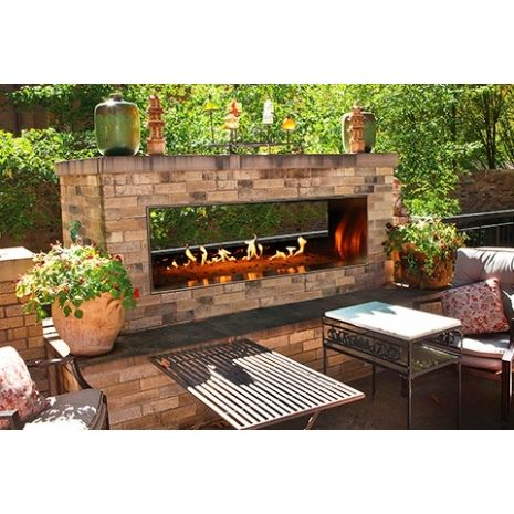 48 Inch Carol Rose Outdoor See Through Gas Fireplace Empire