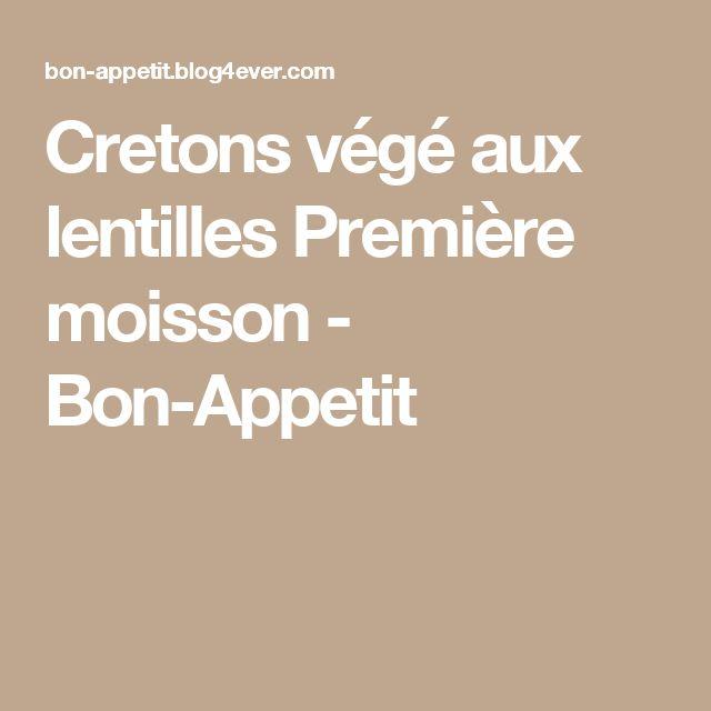 Cretons végé aux lentilles Première moisson - Bon-Appetit