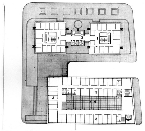 Typical office floor plan 1 twin tower offices 2 for Elevator plan