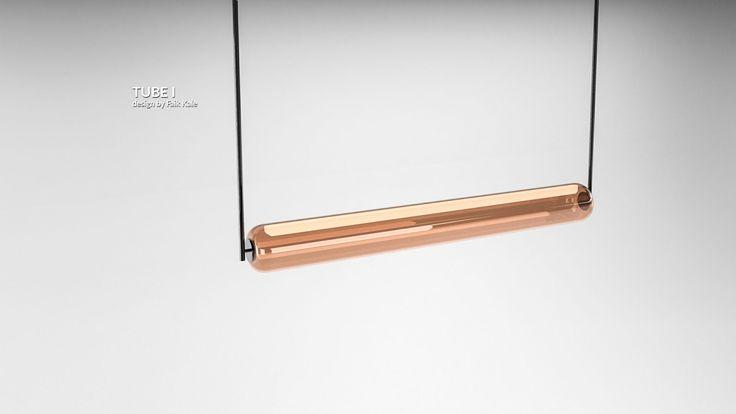 Led aydınlatmalı, tüp boru formunda sarkıt lamba.  Pendant lighting equipment with led, in the form of a tube.  #lighting #design #glass #saken #productdesign #lightingdesign #aydinlatma #tasarım #ürün #pendant