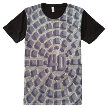 Metal Manhole cover number 40 All-Over-Print T-Shirt - click to get yours right now!